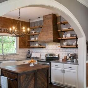 дизайн кухни с аркой идеи фото