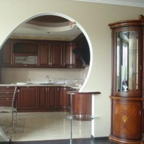 дизайн кухни с аркой идеи интерьер