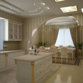 дизайн кухни с аркой идеи видов