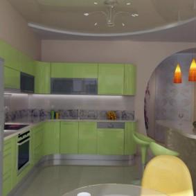 дизайн кухни с аркой идеи виды