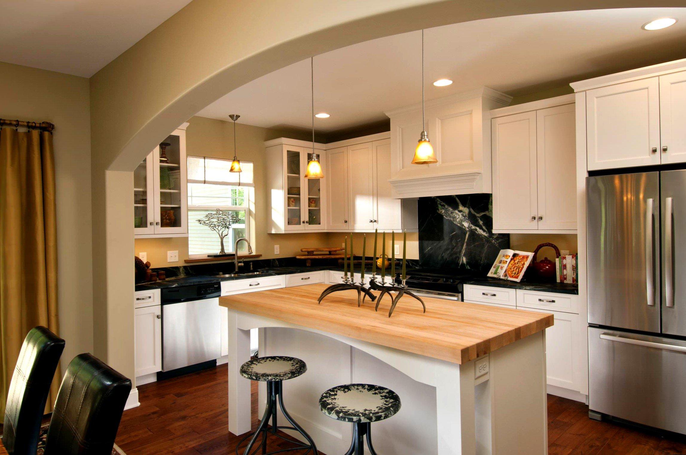 дизайн кухни с аркой варианты