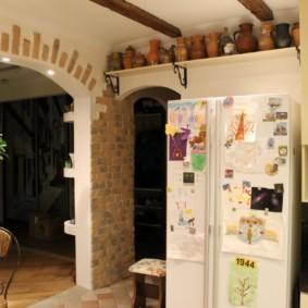 дизайн кухни с аркой виды