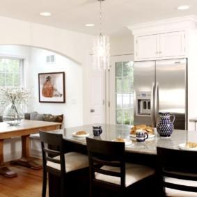 дизайн кухни с аркой виды дизайна
