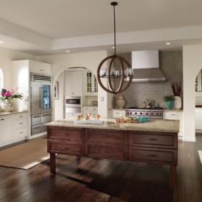 дизайн кухни с аркой виды фото