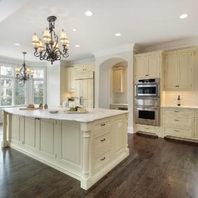 дизайн кухни с аркой виды идеи
