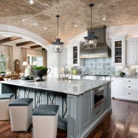 дизайн кухни с аркой виды интерьера