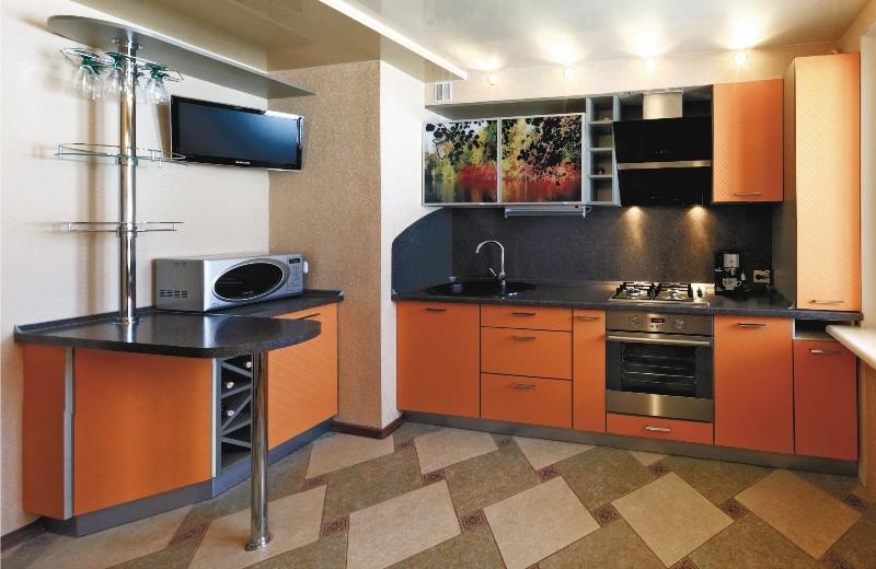 Кухни с коробом вентиляции фото