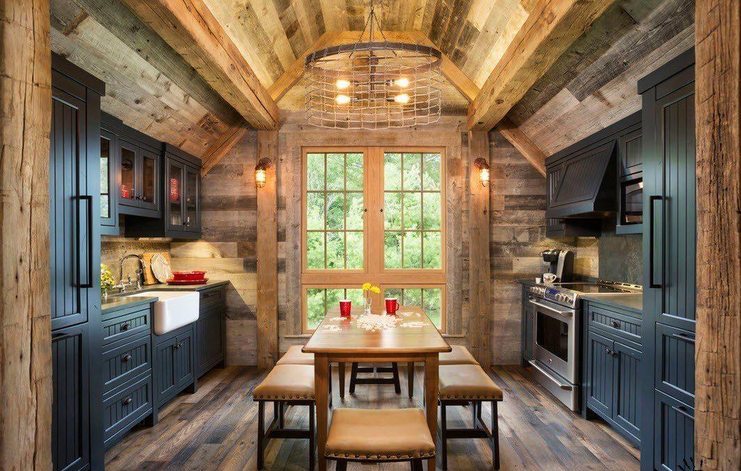 дизайн кухни столовой кантри