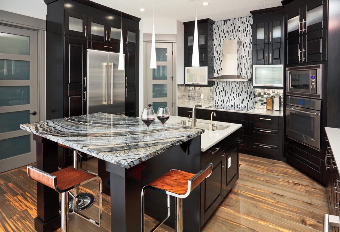 дизайн кухни 2019 черный