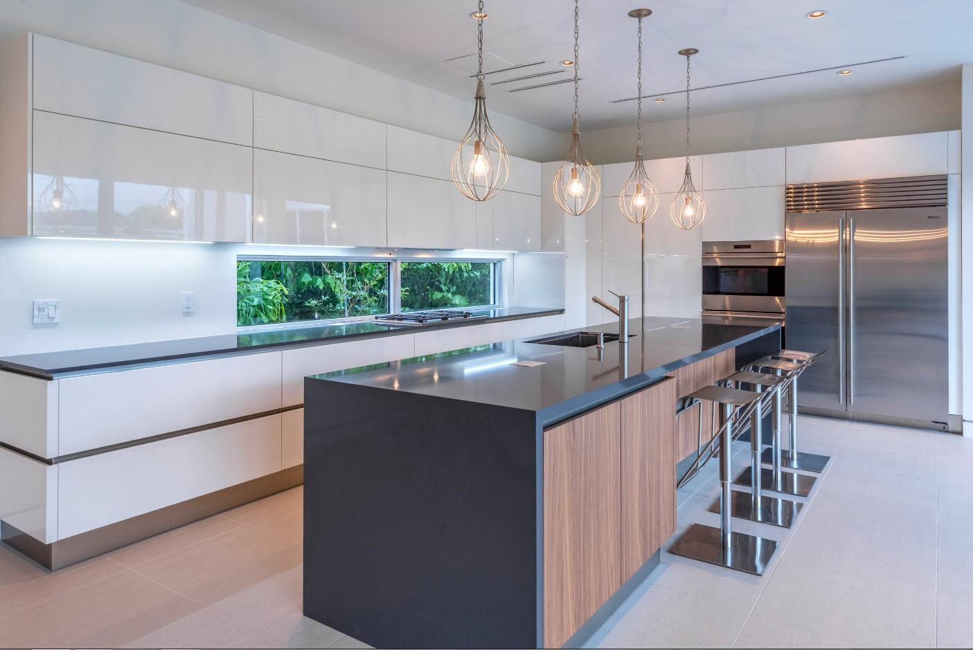 дизайн кухни 2019 гарнитур