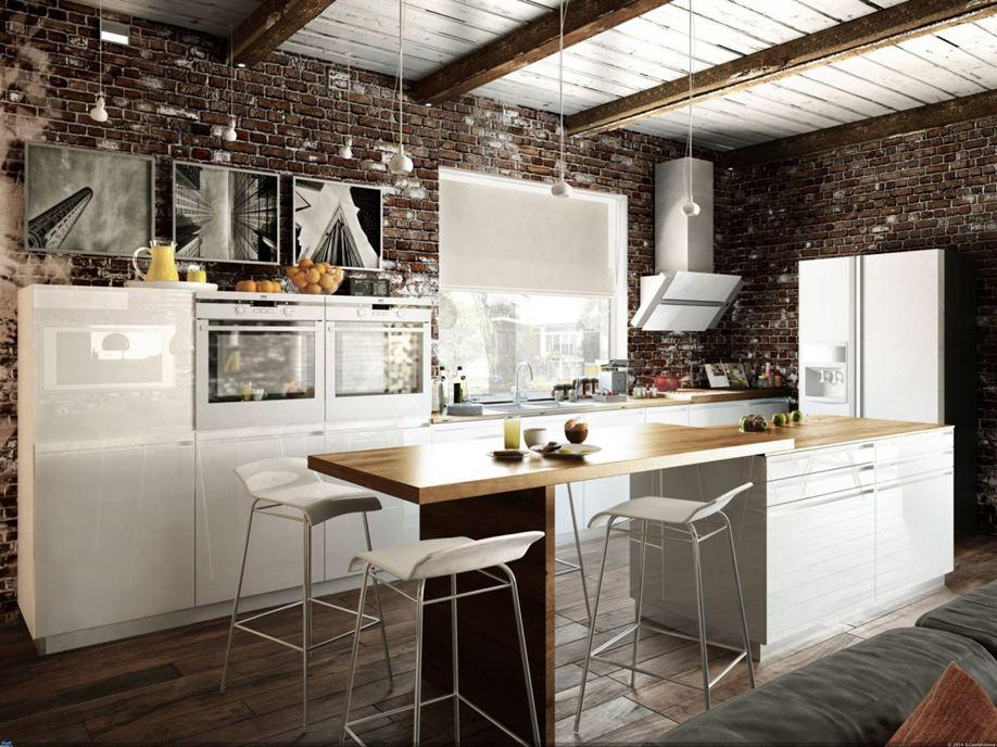 дизайн кухни 2019 лофт