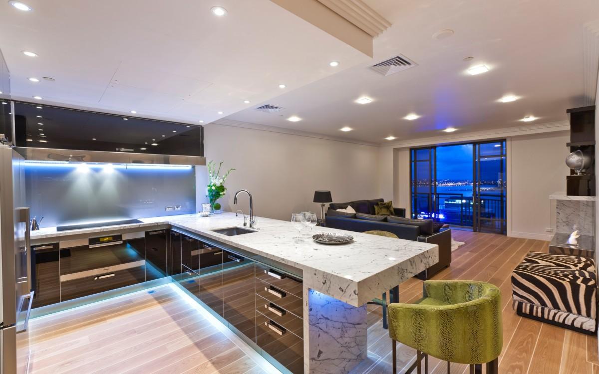 дизайн кухни 2019 подсветка