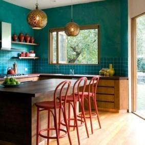 кухня в загородном доме декор