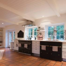 кухня в загородном доме декор идеи