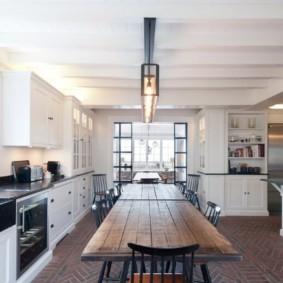 кухня в загородном доме идеи декор