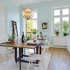 кухня в загородном доме оформление