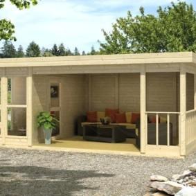 Летняя кухня с открытой террасой