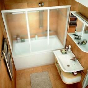 раздельная ванная комната без унитаза