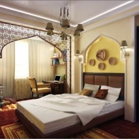 спальня 10 кв метров восточный стиль
