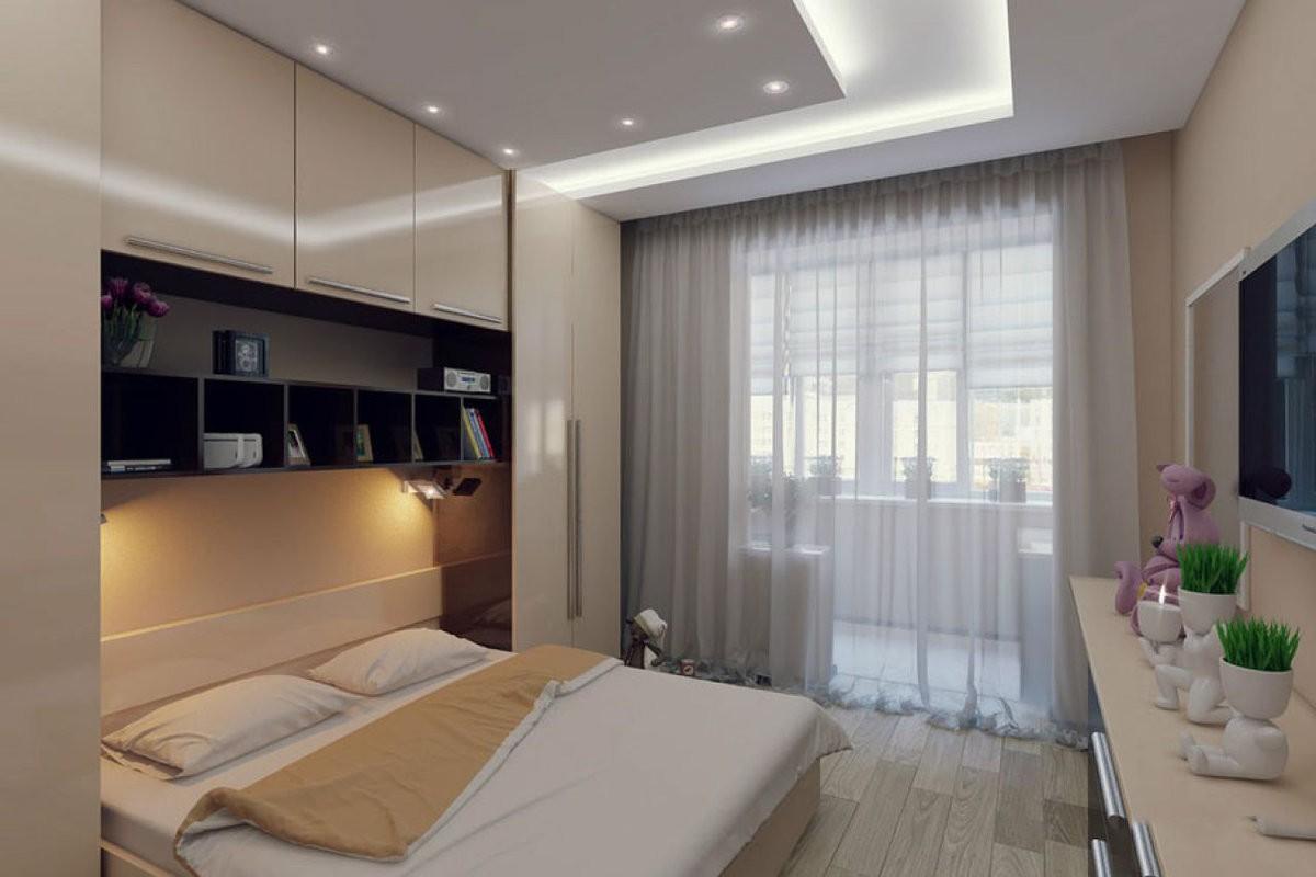 дизайн спальни 12 кв м с балконом