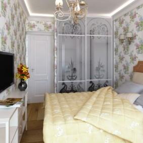 дизайн спальни 12 кв м с красивым декором