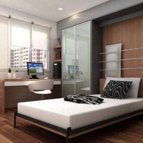 дизайн спальни 12 кв м кровать трансформер