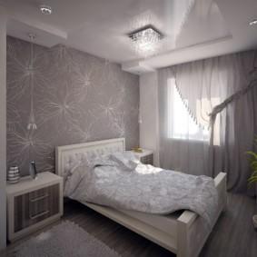 дизайн спальни 12 кв м светлая отделка