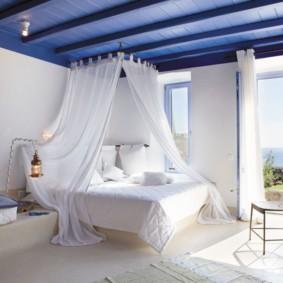 спальня 10 кв метров морской стиль