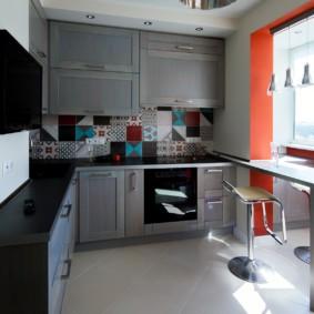Дизайн кухни после присоединения балкона