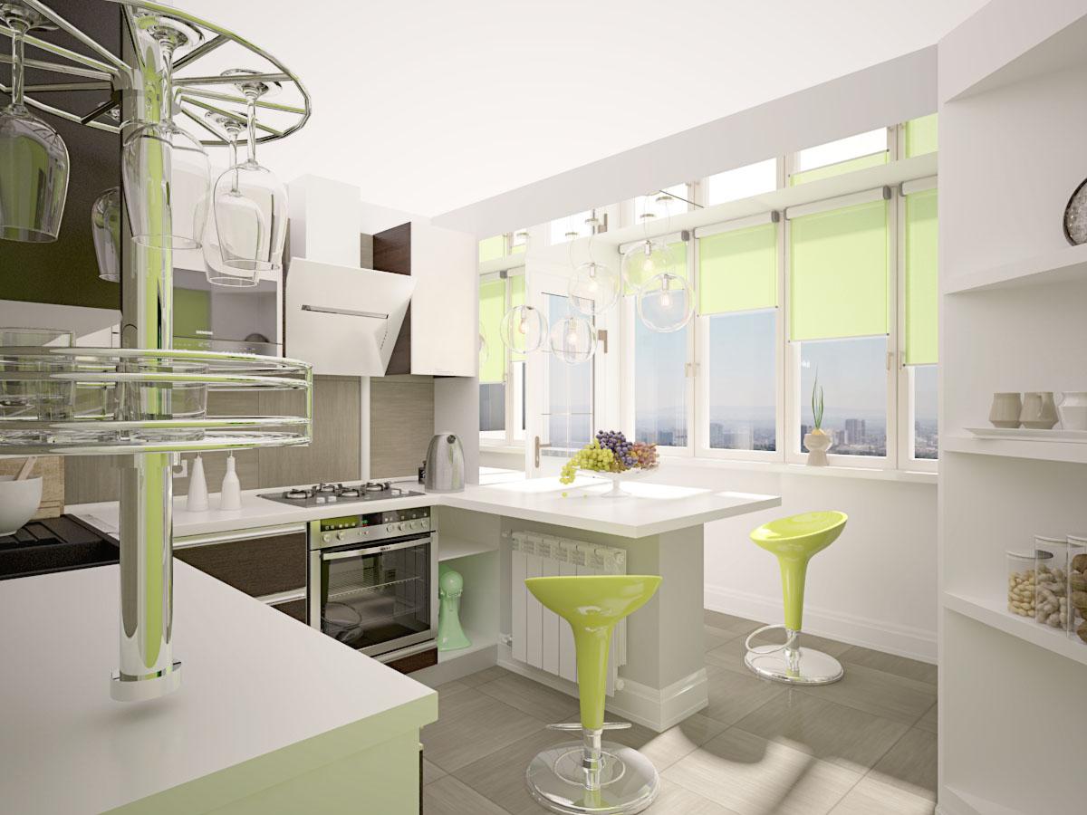 кухня с выбитым балконом фото прямом эфире передачи