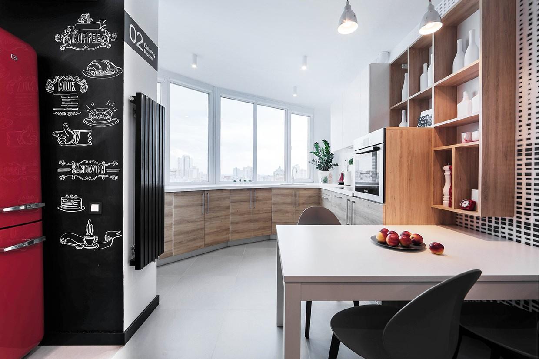 кухня на балконе в квартире студии фото позже ними последовали