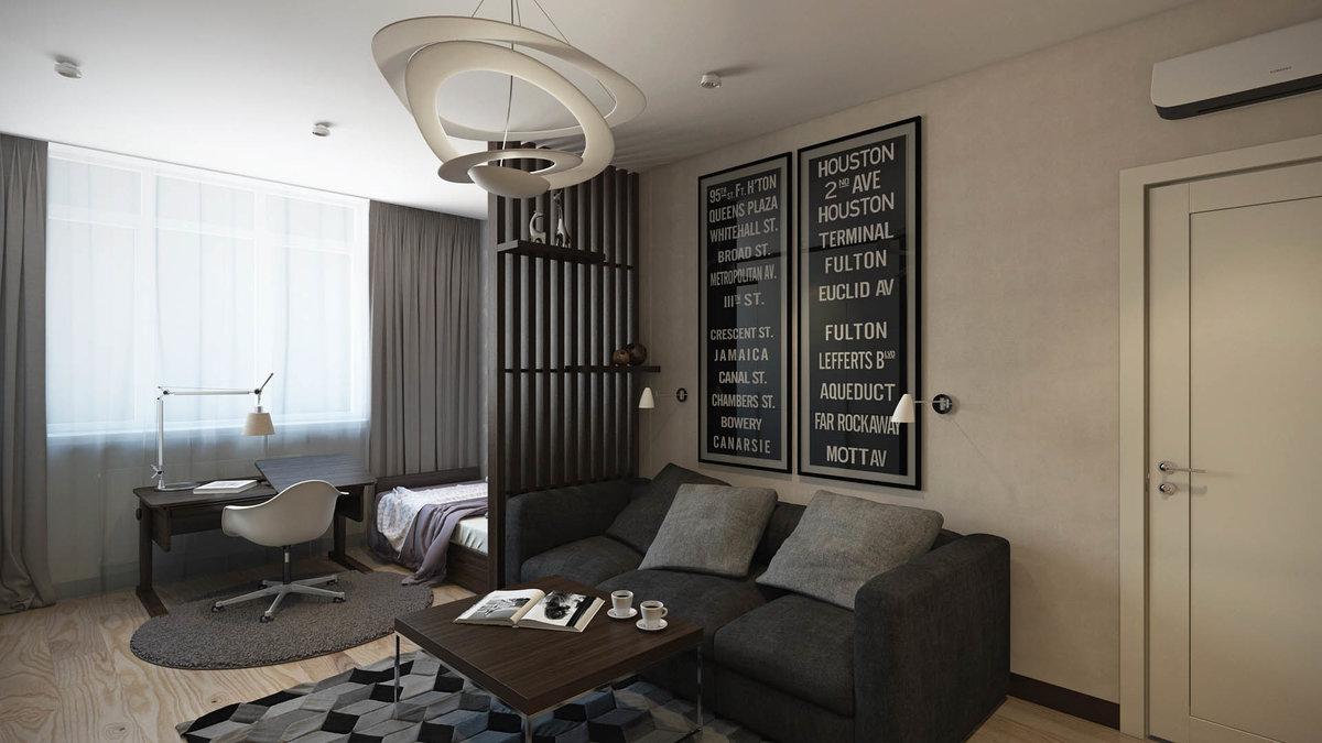дизайн зала спальни в хрущевке
