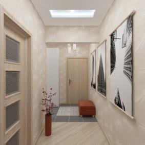 длинный коридор в квартире декор
