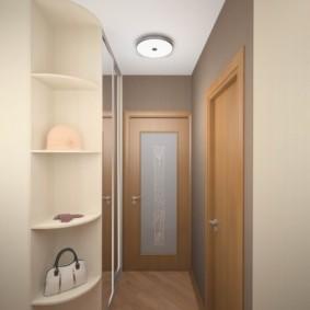 длинный коридор в квартире декор фото