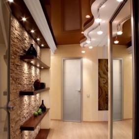 длинный коридор в квартире дизайн