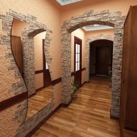 длинный коридор в квартире фото