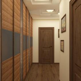 длинный коридор в квартире фото декор