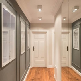 длинный коридор в квартире фото декора