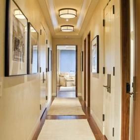 длинный коридор в квартире фото дизайн