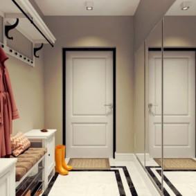длинный коридор в квартире фото дизайна