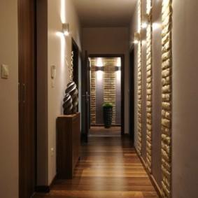 длинный коридор в квартире фото интерьера