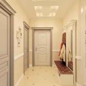 длинный коридор в квартире идеи фото