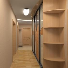 длинный коридор в квартире идеи интерьер