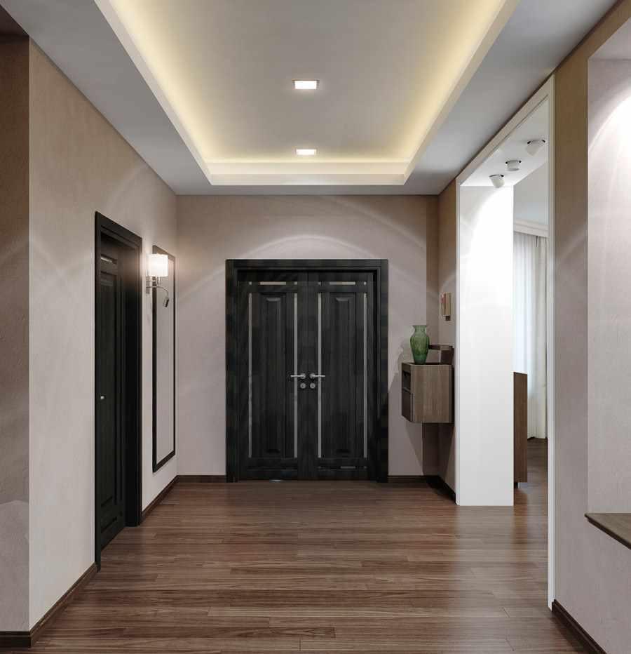 Дизайн большого коридора в частном доме