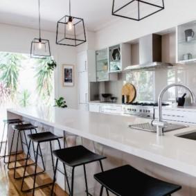 Кухонные светильники из тонкой проволоки