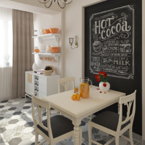 Грифельная доска в дизайне кухни