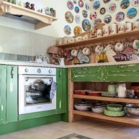 Оригинальный декор кухонного помещения