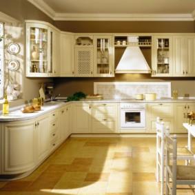 Г-образная кухня итальянского производства
