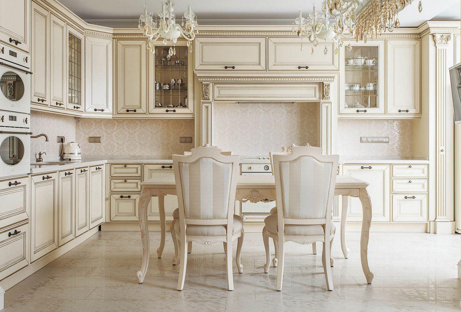 Кухонная мебель классика фото