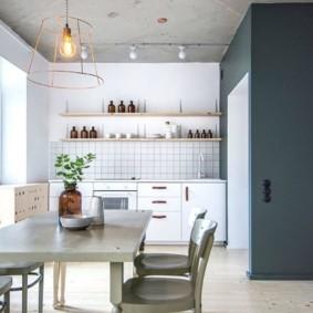 Открытые полки для кухонной посуды